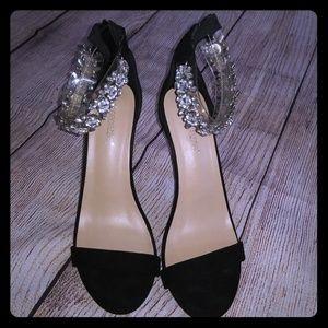 NWOT Shoe Dazzle Stoney Jeweled Black Sandals 11